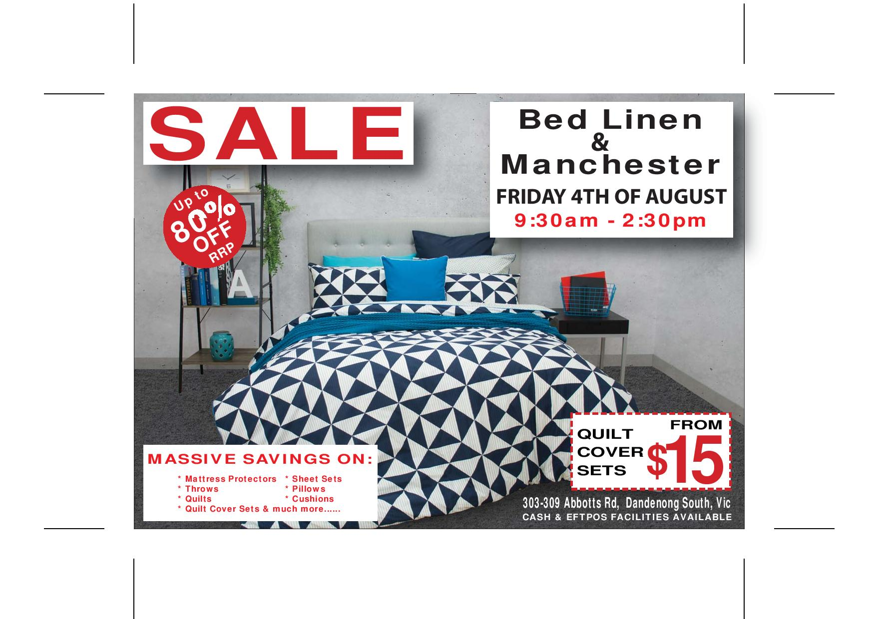 Bed Linen and Manchester Sale